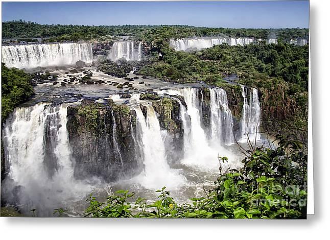 Iguazu Falls - South America Greeting Card by Jon Berghoff