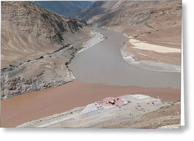 India, Jammu & Kashmir, Ladakh Greeting Card by Ellen Clark