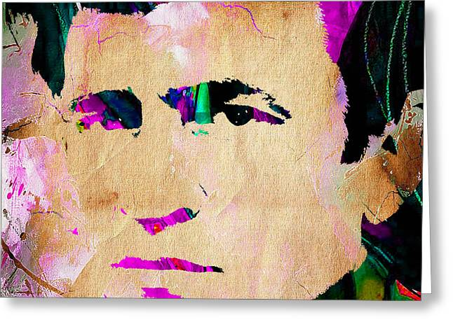 Johnny Cash Collection Greeting Card by Marvin Blaine