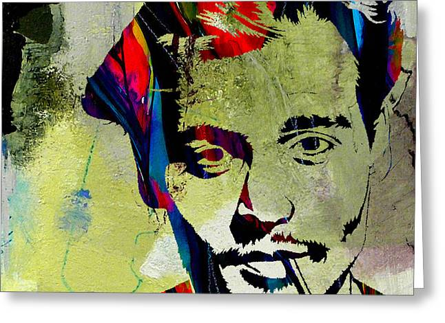 Johnny Depp Greeting Card by Marvin Blaine