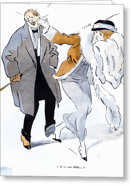 La Vie Parisienne 1910s France Glamour Greeting Card by The Advertising Archives