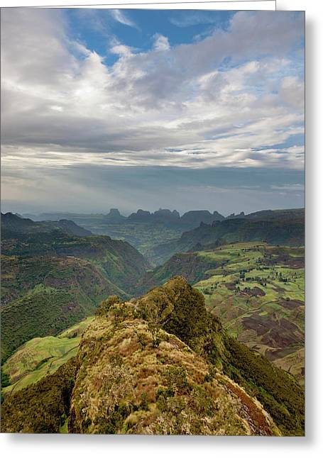 Landscape In The Semien Mountains Greeting Card
