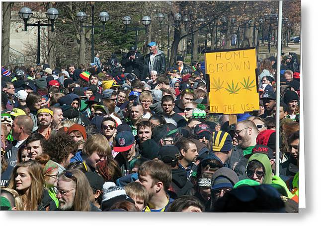 Legalisation Of Marijuana Rally Greeting Card by Jim West