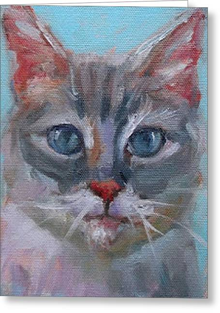 9 Lives Greeting Card by Eva Marie Tanner-Klaas