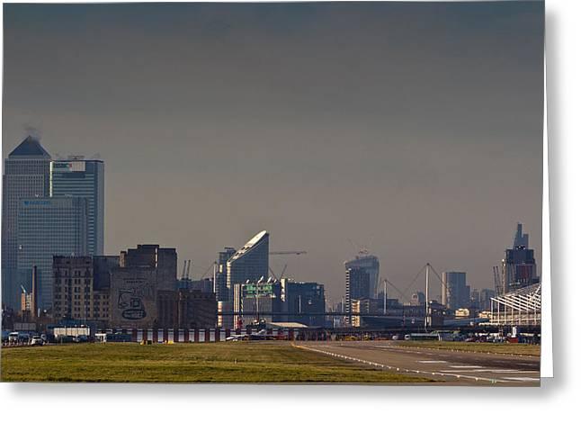 London City Airport Greeting Card