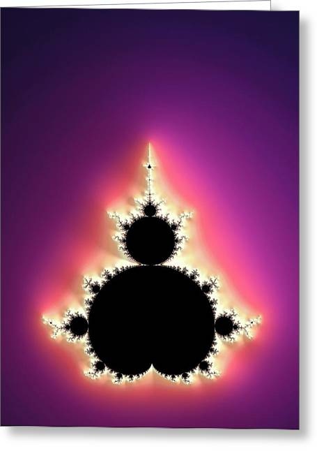 Mandelbrot Fractal Greeting Card by Alfred Pasieka