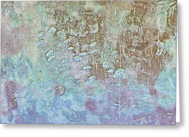 Metallic Background Greeting Card by Tom Gowanlock