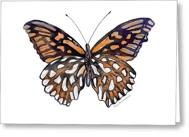 9 Mexican Silver Spot Butterfly Greeting Card