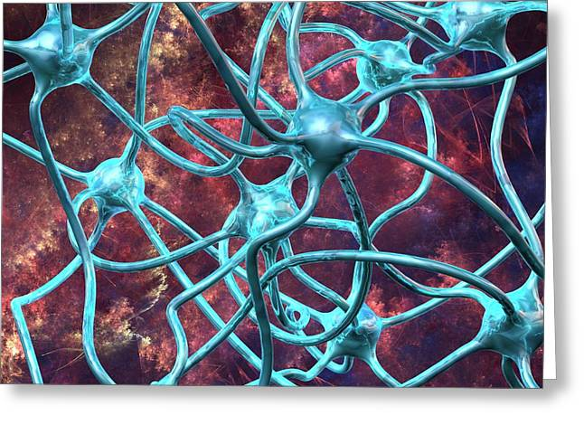 Neural Network Greeting Card by Laguna Design/science Photo Library