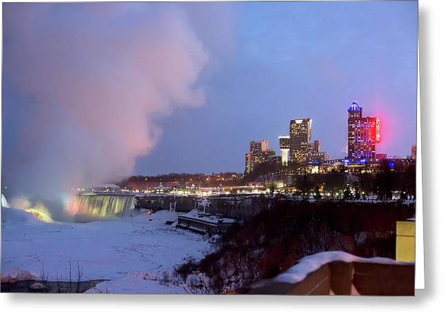 Niagara Falls In Winter Greeting Card by Jim West