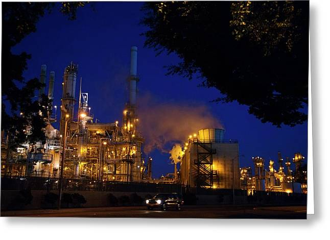 Oil Refinery Greeting Card by Jim West