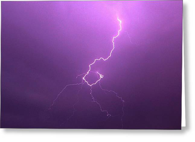 Our 1st Severe Thunderstorms In South Central Nebraska Greeting Card