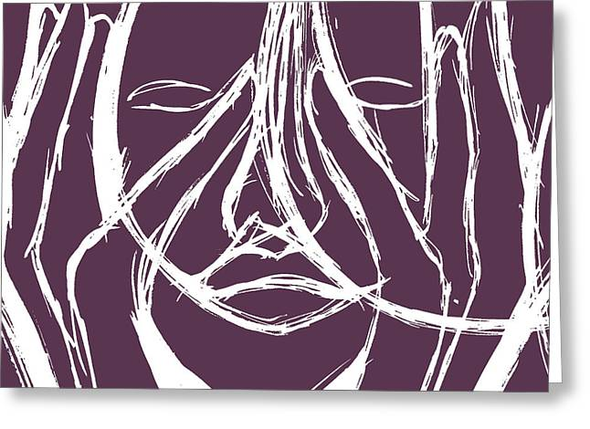 Peekaboo Greeting Card by Andres Carbo