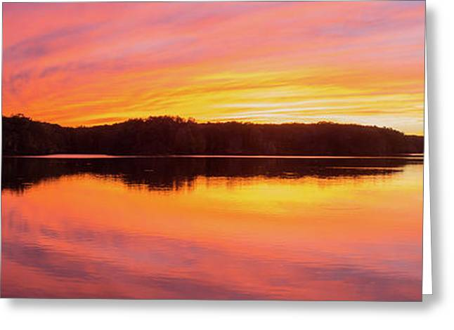 Reflection Of Clouds In A Lake Greeting Card by Panoramic Images