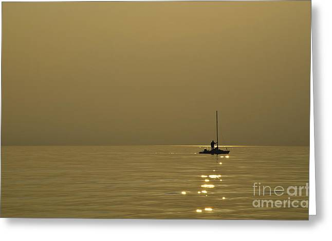 Sailing Boat Greeting Card by Mats Silvan