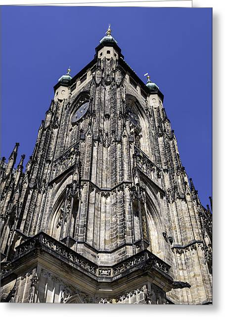 Saint Vitus Cathedral. Greeting Card by Fernando Barozza