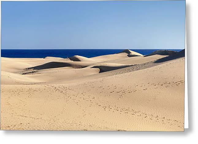 Sand Dunes In A Desert, Maspalomas Greeting Card