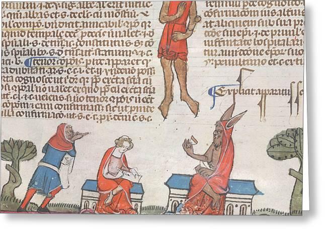 Smithfield Decretals Greeting Card by British Library