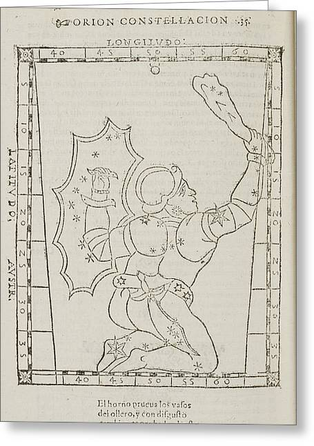 Star Constellations And Heavenly Bodies Greeting Card by British Library