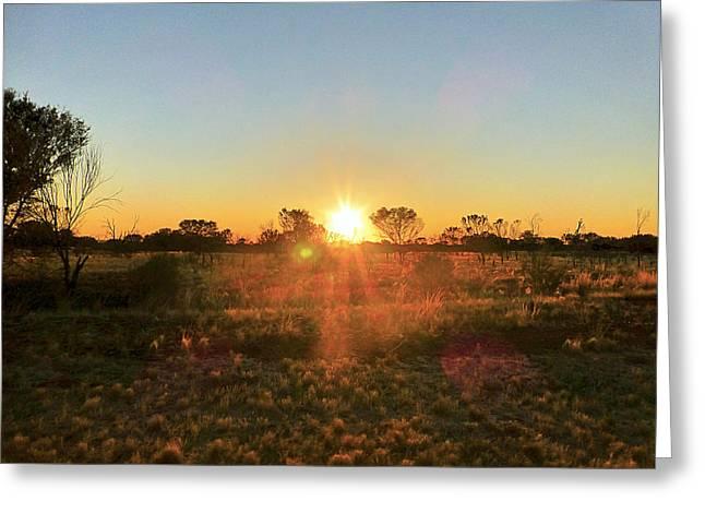 Sunset Greeting Card by Girish J