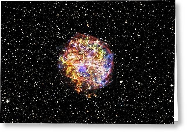 Supernova Remnant Greeting Card by Nasa