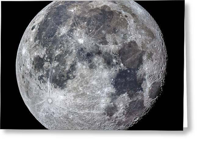 Surface Of The Moon Greeting Card by Babak Tafreshi