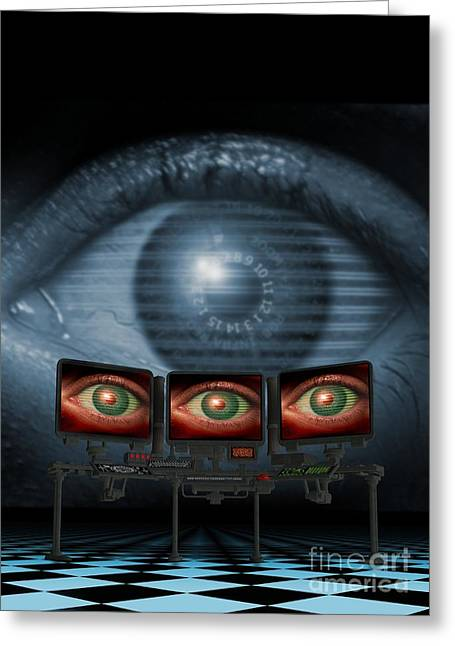 Surveillance, Conceptual Image Greeting Card