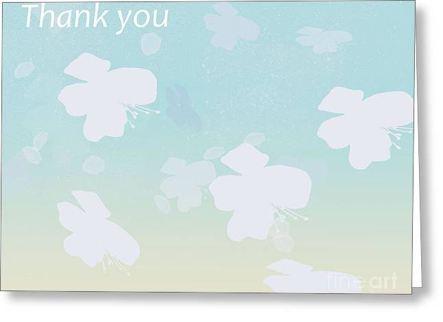 Thank You Greeting Card by Trilby Cole