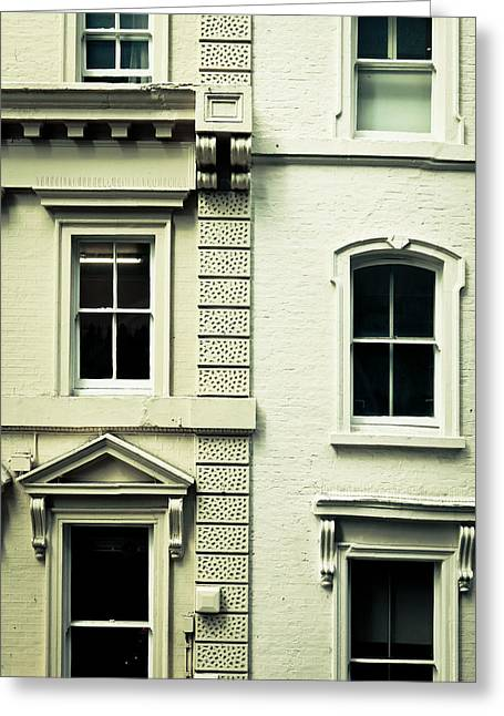 Town Houses Greeting Card by Tom Gowanlock