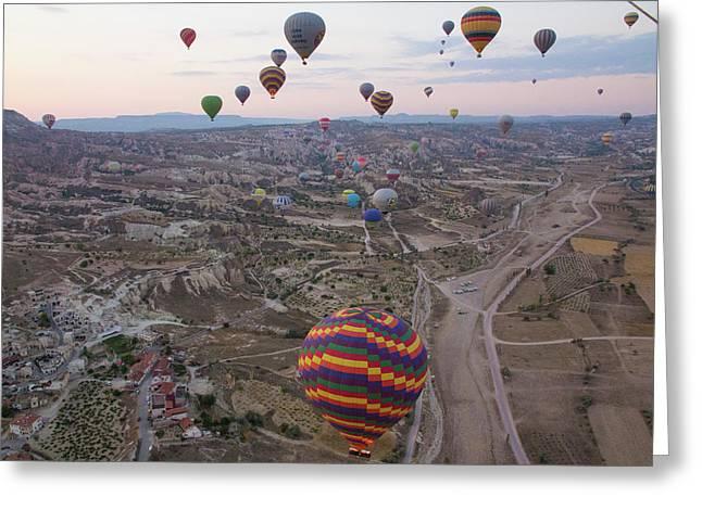 Turkey, Cappadocia Greeting Card by Emily Wilson