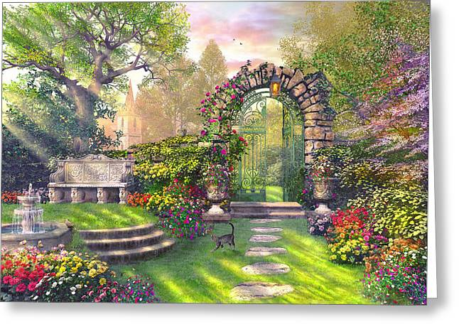 The Garden Gates Greeting Card