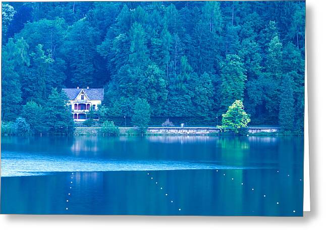 View Across Lake Bled Greeting Card
