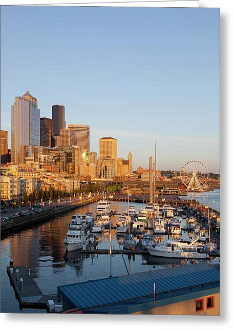 Wa, Seattle, The Seattle Great Wheel Greeting Card by Jamie and Judy Wild