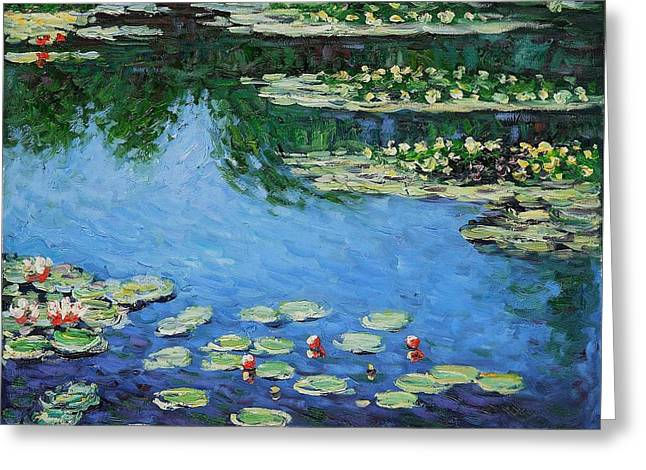 Greeting Card featuring the painting Water Lilies  by Claude Monet