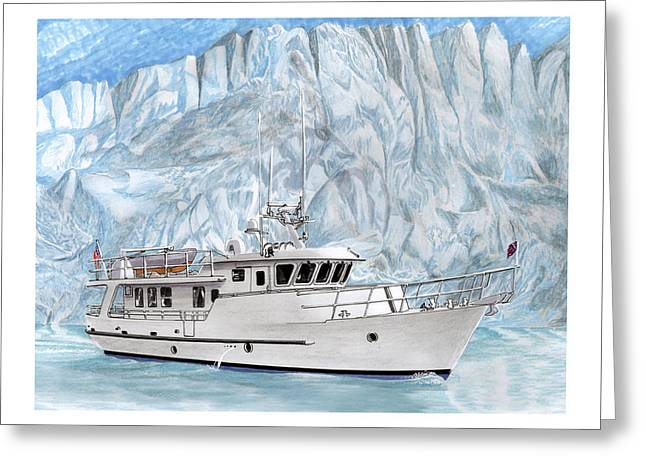 65 Foot World Cruising Yacht Greeting Card by Jack Pumphrey