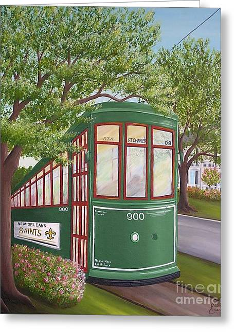 900 On The Avenue Greeting Card