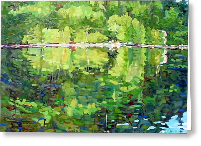 911-sherborne Lake Greeting Card by Phil Chadwick