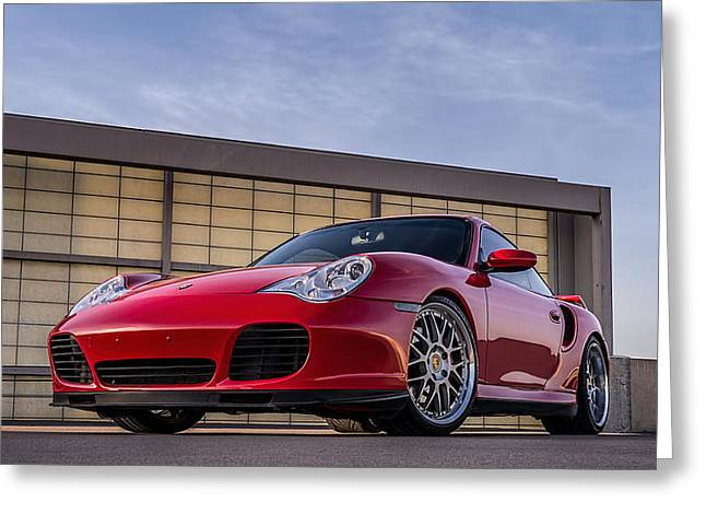 911 Twin Turbo Greeting Card by Douglas Pittman