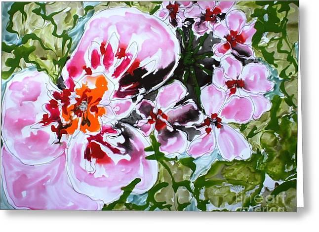 Mann Flowers Greeting Card by Baljit Chadha
