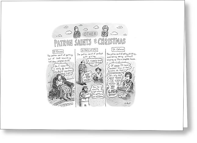 New Yorker December 11th, 2006 Greeting Card by Roz Chast