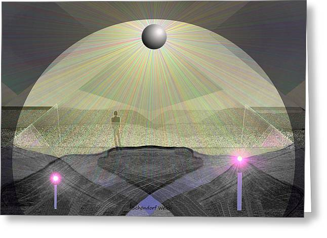 947 - Under The Cupola ... Greeting Card by Irmgard Schoendorf Welch