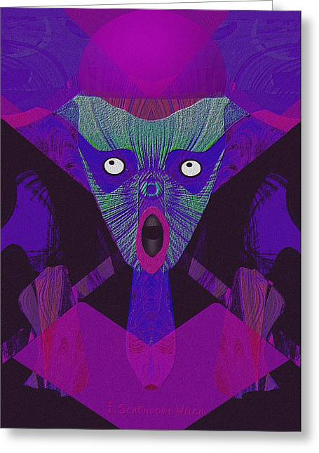948 - The  Howling  ... Greeting Card by Irmgard Schoendorf Welch