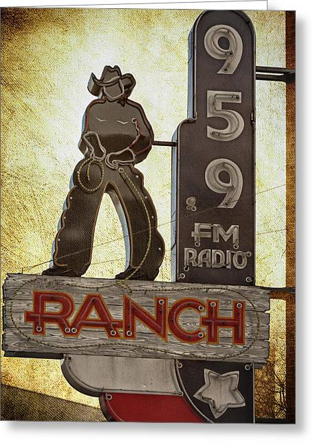 95.9 The Ranch Greeting Card