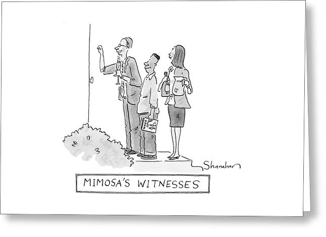 Mimosa's Witnesses Greeting Card