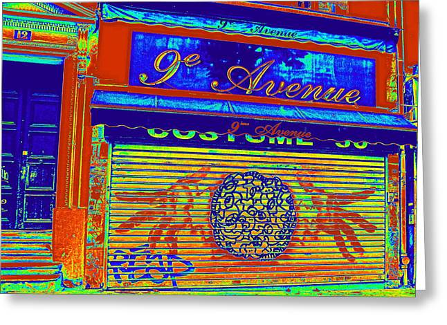 Greeting Card featuring the photograph 9th Avenue by Rosemarie Hakim
