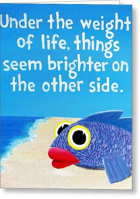 9x12 Dmb Big Eyed Fish Greeting Card