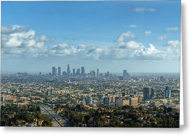 A 10 Day In Los Angeles Greeting Card by David Zanzinger