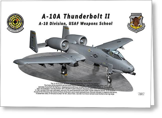 A-10a Thunderbolt II On Parking Ramp Greeting Card
