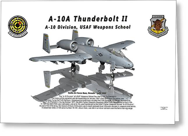 A-10a Thunderbolt II With Reflection Greeting Card