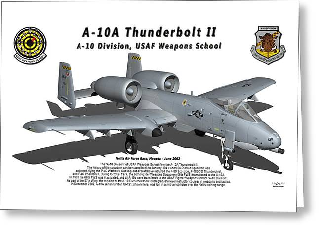 A-10a Thunderbolt II With Shadow Greeting Card